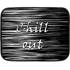 Black An White  chill Out  Double Sided Fleece Blanket (mini)