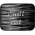 Black an white  Chill out  Double Sided Fleece Blanket (Mini)  35 x27 Blanket Back
