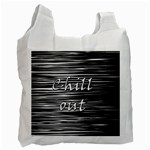 Black an white  Chill out  Recycle Bag (One Side) Front