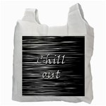 Black an white  Chill out  Recycle Bag (Two Side)  Back