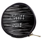 Black an white  Chill out  Mini Makeup Bags Front