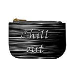 Black an white  Chill out  Mini Coin Purses Front