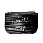 Black an white  Chill out  Mini Coin Purses Back