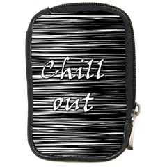Black An White  chill Out  Compact Camera Cases