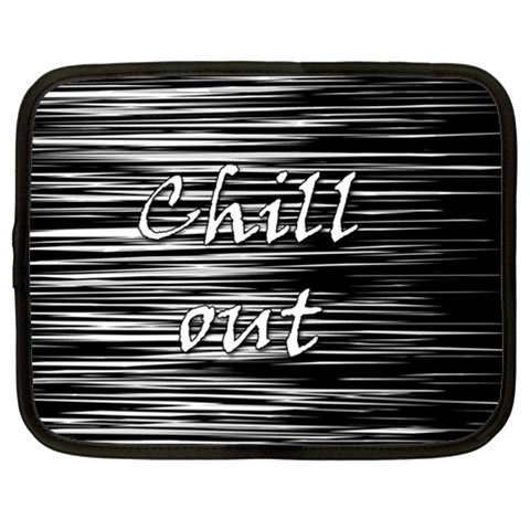Black an white  Chill out  Netbook Case (XL)