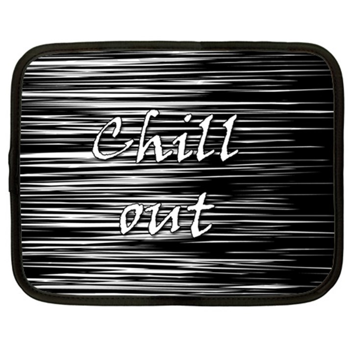 Black an white  Chill out  Netbook Case (XXL)