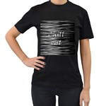 Black an white  Chill out  Women s T-Shirt (Black) Front