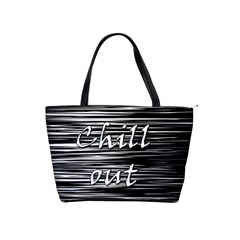 Black An White  chill Out  Shoulder Handbags