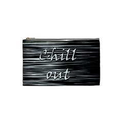 Black an white  Chill out  Cosmetic Bag (Small)
