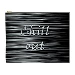 Black an white  Chill out  Cosmetic Bag (XL) Front