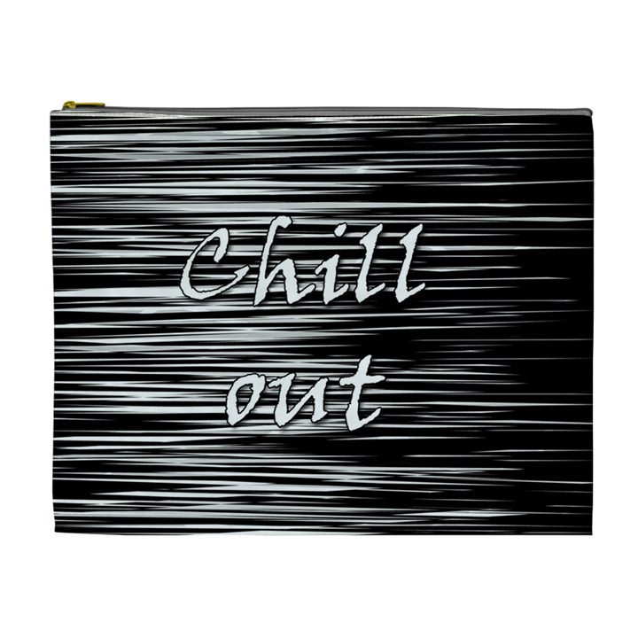 Black an white  Chill out  Cosmetic Bag (XL)