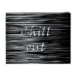 Black an white  Chill out  Cosmetic Bag (XL) Back