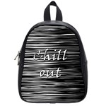 Black an white  Chill out  School Bags (Small)  Front