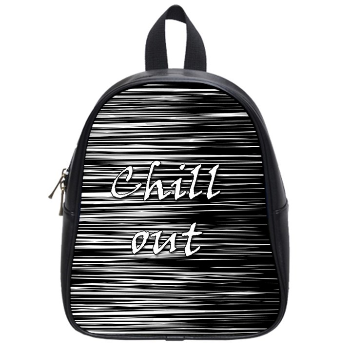 Black an white  Chill out  School Bags (Small)