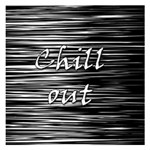 Black an white  Chill out  Small Memo Pads 3.75 x3.75  Memopad
