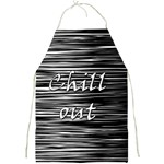 Black an white  Chill out  Full Print Aprons Front