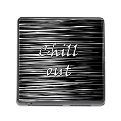 Black An White  chill Out  Memory Card Reader (square)