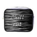 Black an white  Chill out  Mini Toiletries Bags Front