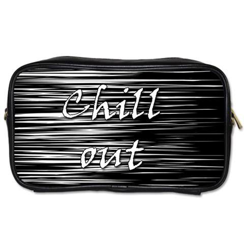 Black an white  Chill out  Toiletries Bags