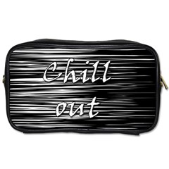 Black An White  chill Out  Toiletries Bags 2 Side
