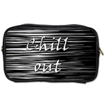 Black an white  Chill out  Toiletries Bags 2-Side Front