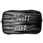 Black an white  Chill out  Toiletries Bags 2-Side Back