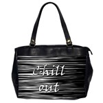Black an white  Chill out  Office Handbags (2 Sides)  Front