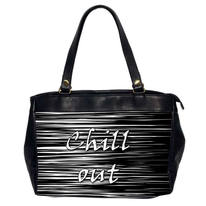 Black an white  Chill out  Office Handbags (2 Sides)