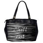Black an white  Chill out  Office Handbags (2 Sides)  Back