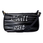 Black an white  Chill out  Shoulder Clutch Bags Front