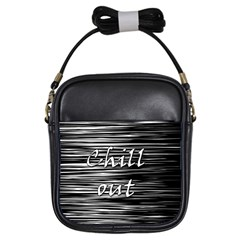 Black An White  chill Out  Girls Sling Bags
