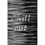 Black an white  Chill out  5.5  x 8.5  Notebooks Back Cover
