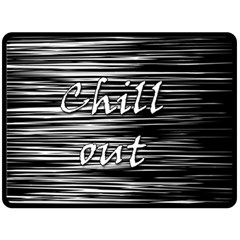 Black An White  chill Out  Fleece Blanket (large)