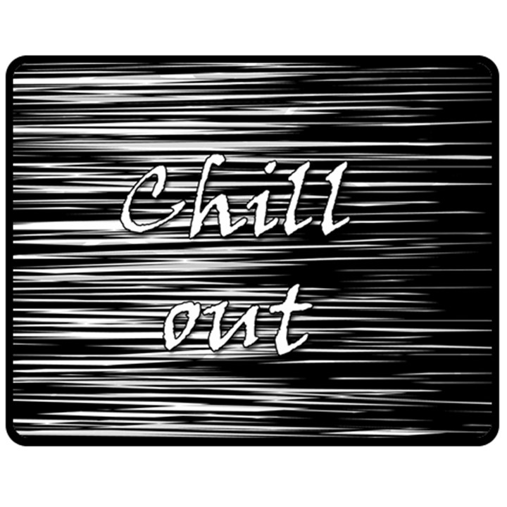 Black an white  Chill out  Fleece Blanket (Medium)