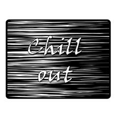 Black An White  chill Out  Fleece Blanket (small)