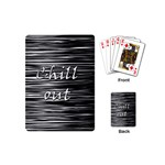 Black an white  Chill out  Playing Cards (Mini)  Back