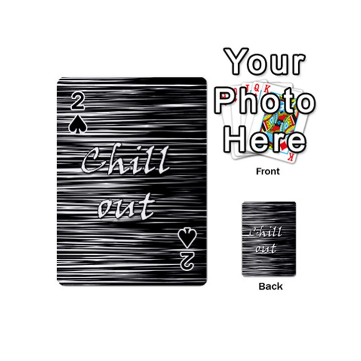 Black an white  Chill out  Playing Cards 54 (Mini)