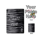 Black an white  Chill out  Playing Cards 54 (Mini)  Front - Spade3