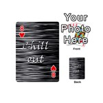 Black an white  Chill out  Playing Cards 54 (Mini)  Front - Heart8