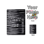 Black an white  Chill out  Playing Cards 54 (Mini)  Front - Joker1
