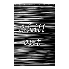Black An White  chill Out  Shower Curtain 48  X 72  (small)