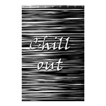 Black an white  Chill out  Shower Curtain 48  x 72  (Small)  42.18 x64.8 Curtain