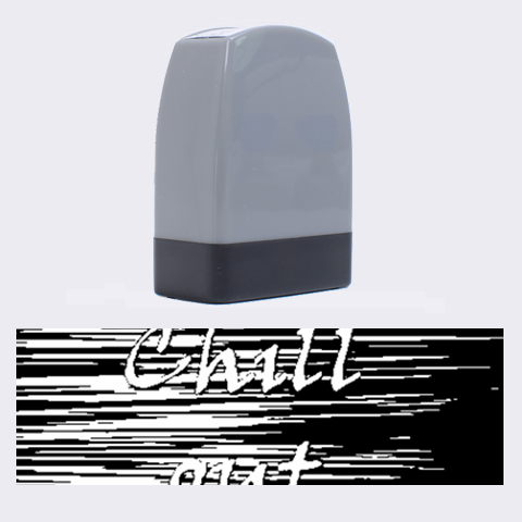 Black an white  Chill out  Name Stamps