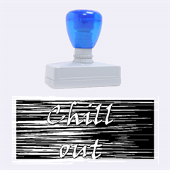 Black an white  Chill out  Rubber Stamps (Large)