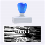 Black an white  Chill out  Rubber Stamps (Large) 2.26 x1.05  Stamp