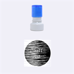 Black an white  Chill out  Rubber Round Stamps (Small) 1.12 x1.12  Stamp