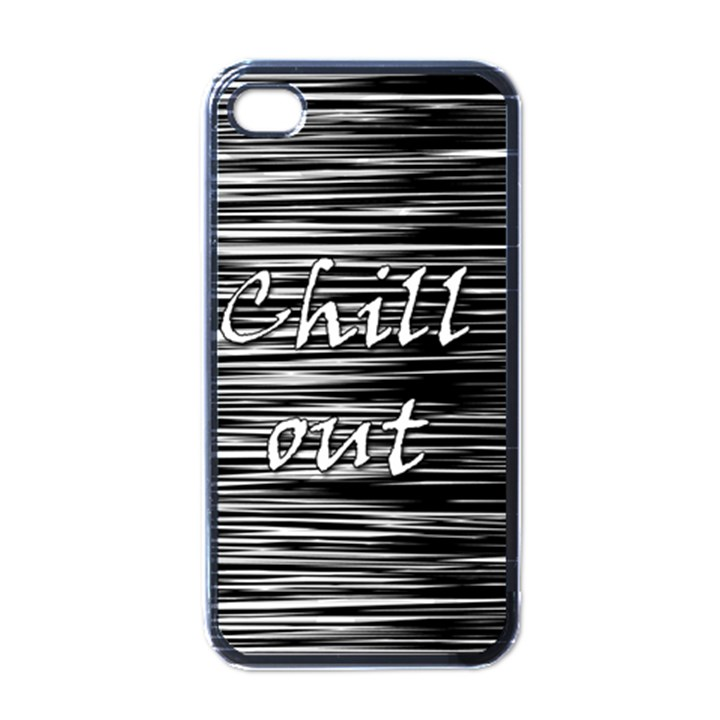 Black an white  Chill out  Apple iPhone 4 Case (Black)