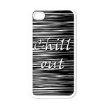 Black an white  Chill out  Apple iPhone 4 Case (White) Front