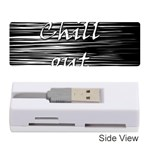 Black an white  Chill out  Memory Card Reader (Stick)  Front