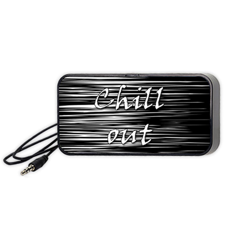 Black an white  Chill out  Portable Speaker (Black)